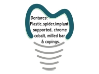 Dentures: Plastic, spider, implant supported, chrome cobalt, milled bar & copings